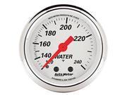 Auto Meter 1332 Arctic White Mechanical Water Temperature Gauge