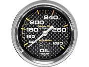 Auto Meter 4841 Carbon Fiber&#59; Mechanical Oil Temperature Gauge