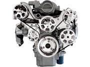 Billet Specialties 13460PA Premium Tru Trac LS Engine Top Mount Pulley System