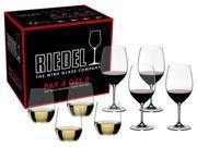 """Riedel - Vinum Bordeaux + """"O"""" Viognier/Chardonnay (Pay 4 Get 8)"""