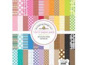 """Kraft In Color Paper Pack 12""""X12"""" 24/Sheets-"""