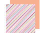 "Sugar Shoppe Double-Sided Cardstock 12""X12""-Sorbet Stripe"