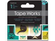 "Tape Works Accent Tape 3""X15ft-Mustache, Balloon, Eiffel Tower"