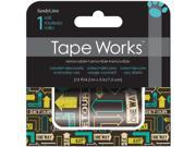 "Tape Works Accent Tape 3""X15ft-Arrows"
