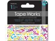"Tape Works Accent Tape 3""X15ft-Music Notes"