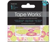 "Tape Works Accent Tape 3""X15ft-Bright Floral"
