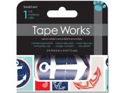 "Tape Works Accent Tape 3""X15ft-Sea Life"