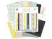 "Hello Sunshine Paper Pad 12""X12"" 48/Sheets-Single-Sided"