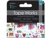 """Tape Works Accent Tape 3""""X15ft-Colorful Owls"""
