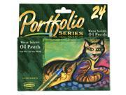 Crayola Portfolio Water Soluble Oil Pastel Set - 24 Per Package