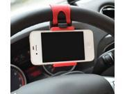 Multi-functional mobile phone Holder/Mount / Clip / Buckle Socket Hands Free on Car Steering Wheel - Providing Better View Access to Your Phone (max screen size 4.8inch) for iPhone 5/5G/4,HTC,Samsung