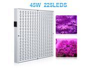Excelvan PG02 45W 225 SMD LED Hydroponic Plant Grow Light & Lighting Panel,Blue + Red Indoor Garden Plant Grow Light,Hydroponics System and Vegetables(165 red + 60 blue)