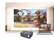 Excelvan 2800 Lumens Home Theater Multimedia LED Projector 800*600 HDMI/TV/AV/VGA/S terminal/USB/color 40-120 inches Screen