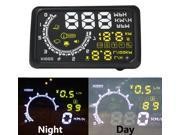 Excelvan W02 5.5-Inch Car OBDII Head Up Display Projector Speed Warning System