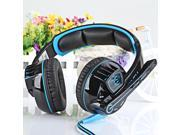 EACH G6000 Gaming Headset Stereo Sound 2.2M Wired Headphone Noise Reduction with Microphone Black