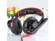 EACH G6000 Gaming Headset Stereo Sound 2.2M Wired Headphone Noise Reduction with Microphone Red