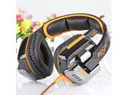 EACH G8000 Gaming Headset Stereo Sound 2.2M Wired Headphone Noise Reduction with Hidden Microphone Orange