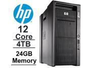 12 CORE COMPUTER with 24 Hyperthreads | HP Z800 Workstation | 2 x SIX CORE Xeon 3.46GHz |*NEW* 4TB HDD| 500GB SSD | 24GB DDR3 RAM - WIFI - Quad Video Output - DVD-RW - Windows 7 Pro.