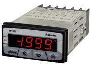 AUTONICS MT4N-DV-E2 Meter, DC Volts, LCD, 1/32 DIN, 4-Digit, 0-50 V Input, PNP open collector Output, Power 12-24 VDC