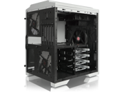 RAIJINTEK AENEAS WHITE, Removable M/B Frame and Tool-Free for ODD & HDD, Dust-Control Filters, 14025*2 & 12025*2 fans preinstalled, 0.8mm SGCC, VGA card up to 310mm & CPU Cooler heigth up to 180mm