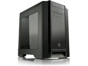 RAIJINTEK AENEAS WINDOW-BLACK, Removable M/B Frame Tool-Free for ODD & HDD, Dust-Control Filter, 14025*2 & 12025*2 fans preinstalled, 0.8mm SGCC, VGA card up to 310mm and CPU Cooler heigth up to 180mm