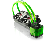RAIJINTEK TRITON All-In-One Open Loop Liquid CPU Cooler with New Pump, Water Block and Tank Design, 2* 12025 Fans, 2 LED Lights, Fan RPM Controller, Solid Mounting Kits and Sturdy Installation - Green