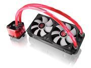 RAIJINTEK TRITON-RED, All-In-One Open loop Liquid CPU Cooler with New Pump, Water block and Tank design, 2* 12025 Fans, 2 LED lights, Fan RPM controller, Solid mounting kits and sturdy installation
