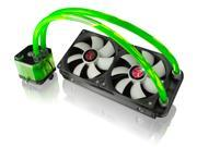 RAIJINTEK TRITON-GREEN, All-In-One Open loop Liquid CPU Cooler with New Pump, Water block and Tank design, 2* 12025 Fans, 2 LED lights, Fan RPM controller, Solid mounting kits and sturdy installation