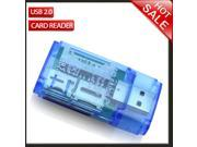 CHIC SD Micro SD MMC SDHC DV TF M2 MS Memory Card Reader to USB 2.0 Adapter