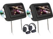 "Pair Soundstream Vhd-9Grdk Of 8.8"" Headrest Monitors Dvd Players Sd/Usb"