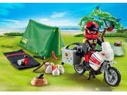 Biker At Camp Site