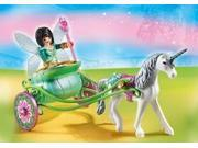 Unicorn Carriage With Butterfly Fai