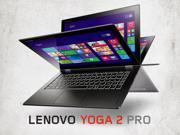 Lenovo Yoga 2 Pro Convertible Ultrabook - 59442416 - Core i7-4510U, 256GB SSD, 8GB RAM, 13.3in QHD+ 3200x1800 MultiTouch, Intel 7260-N