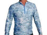 Aqua Design Men's Fishing 1/4 Zip Mock Turtleneck Long Sleeve UPF 50+ Shirt