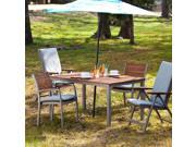 Cape Cod Outdoor Rectangular Dining Table - Gray