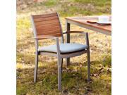 Cape Cod Outdoor Easy Chairs 2pc Set - Gray