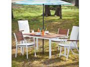 Cape Cod Outdoor Rectangular Dining Table - Soft White