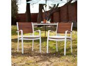 Cape Cod Outdoor Easy Chairs 2pc Set - Soft White