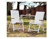 Cape Cod Outdoor Position Chairs 2pc Set - Soft White