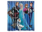 "Cartoon Film Frozen Elsa Anna Cute Olaf Post Custom Shower Curtain Amazing Decorate your bathroom 66""X72"""
