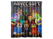 "Hot Game Minecraft 12 Pattern Polyester Fabric Shower Curtain, 60"" By 72"""
