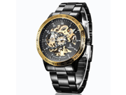 Fashion Multi Color Luxury Men's Stainless Steel Automatic Skeleton Mechanical Wristwatch With High Quality Japanese Seiko Automatic Movement