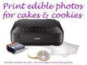 Canon MG5520 BK- Wireless Edible Printer Bundle - Ink & Frosting Sheets Included