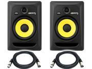 KRK RP8G3-NA Rokit 8 Generation 3 Powered Studio Monitor (Pair) / FREE Talent cables XLR to XLR 18ft ea