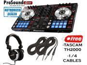 Pioneer DDJ Series DDJ-SR Digital Performance DJ Controller + FREE TASCAM TH-2000-R Professional Headphones + FREE Cables