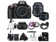 Nikon D5100 DSLR Camera with 18-55mm f/3.5-5.6 AF-S Nikkor Zoom Lens + Nikon 50mm f/1.8D AF Nikkor Lens for Nikon Digital SLR Cameras + Pixi-Basic Bundle