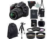 Nikon D3200 24.2 MP DSLR with 18-55mm f/3.5-5.6 AF-S DX VR NIKKOR Zoom Lens + Pixi-Advanced Accessory Bundle