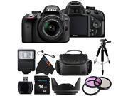 Nikon D3300 24.2 MP CMOS Digital SLR with AF-S DX NIKKOR 18-55mm f/3.5-5.6G VR II Zoom Lens + Pixi-Basic Accessory Bundle