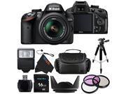 Nikon D3200 24.2 MP CMOS Digital SLR with 18-55mm f/3.5-5.6 AF-S DX VR NIKKOR Zoom Lens + Pixi-Basic Accessory Bundle