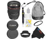 Canon EF 24-105mm f/4 L IS USM Lens for Canon EOS SLR Cameras T3, T3i, T4i, T5, T5i, 5D, 6D, 60D, 7D, 70D, SL1, 600D, 650D, 700D, 100D, 1100D + Pixi-Basic Accessory Bundle